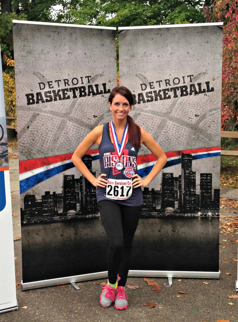 Heather at Pistons Fit 5K