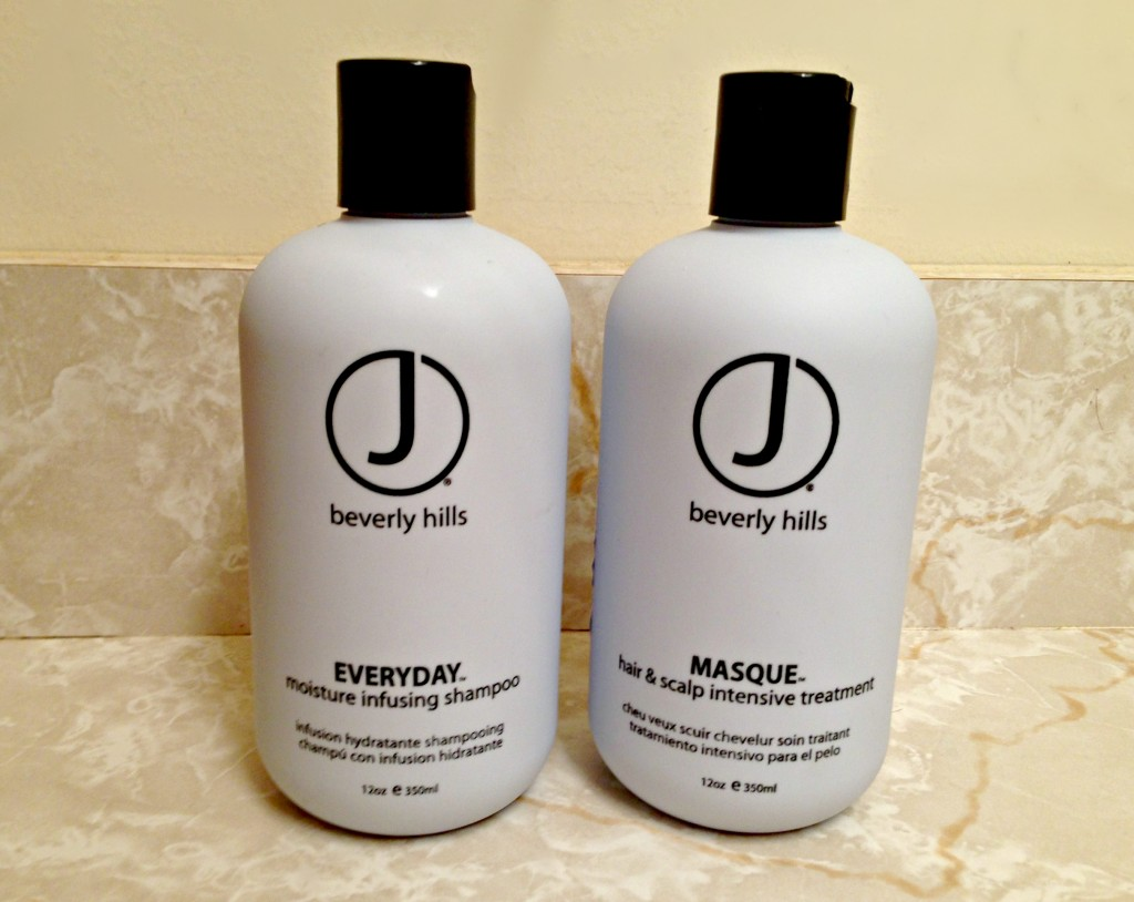 J Beverly Hills shampoo and hair & scalp treatment