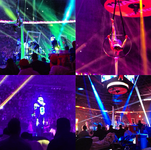 Opening Night Halftime collage