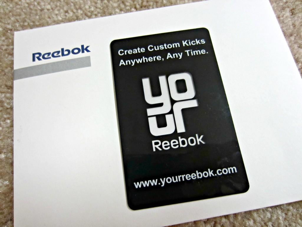 Reebok Custom Kicks card