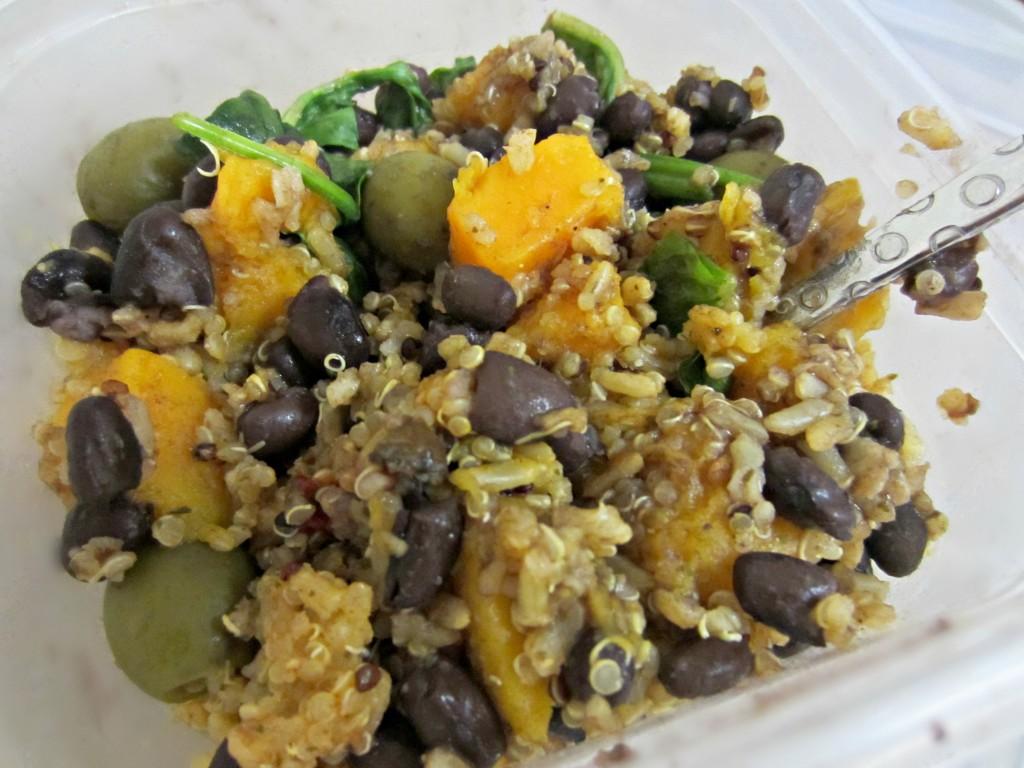 Squash bean and veggie quinoa