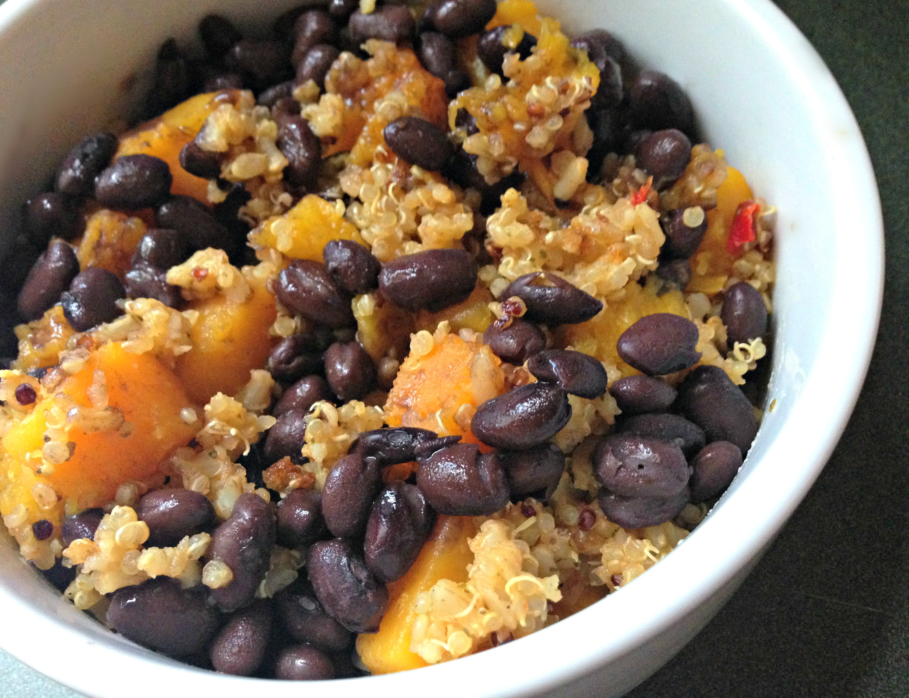black beans and butternut squash quinoa