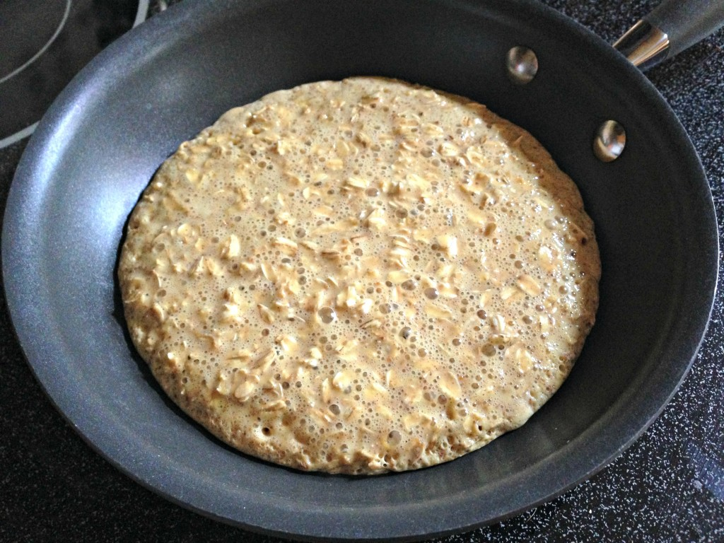 cooking a protein pancake