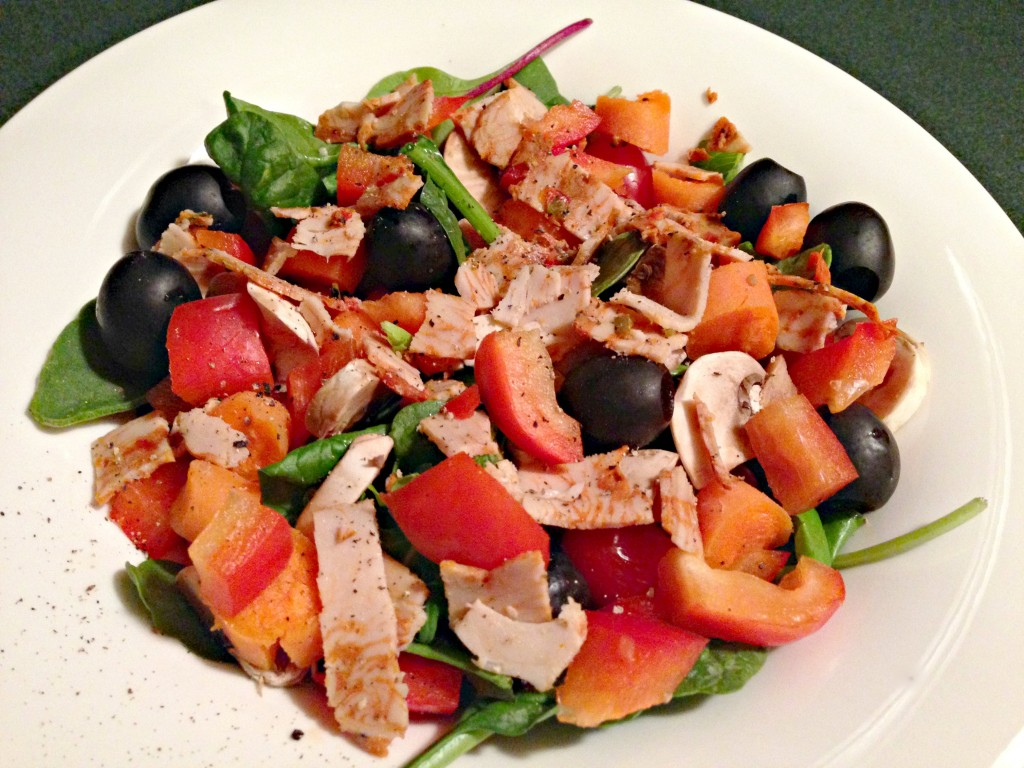 dinner salad with turkey