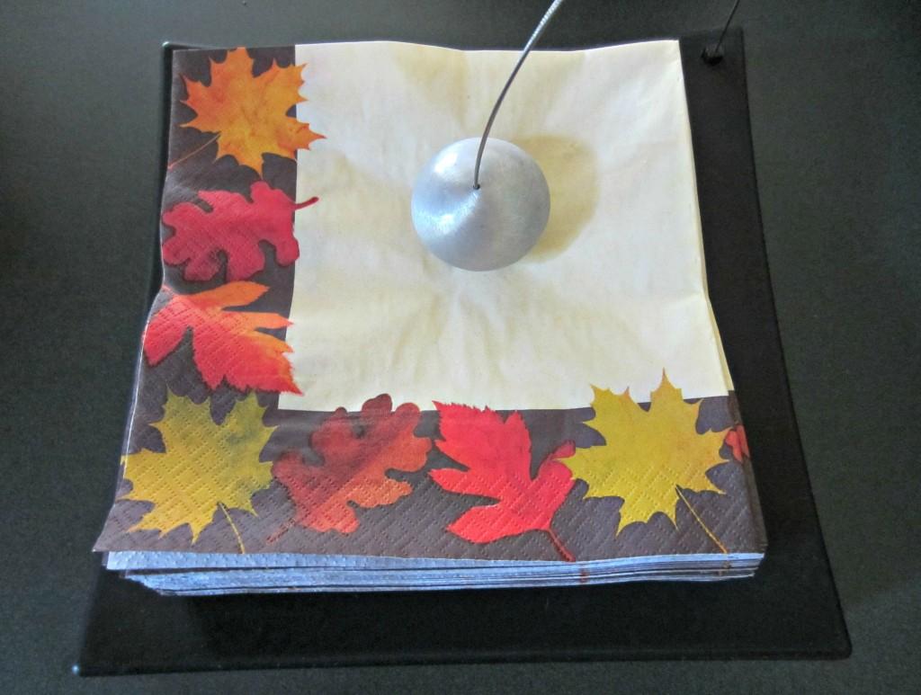 fall napkins decoration
