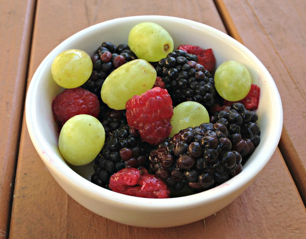 fresh berries and grapes