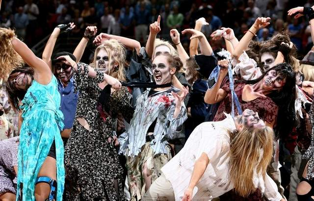 magic dancers as zombies