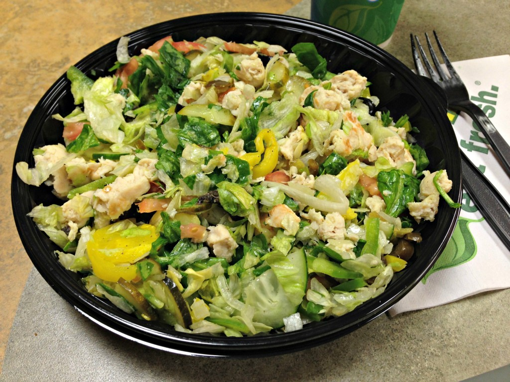subway chopped salad double chicken