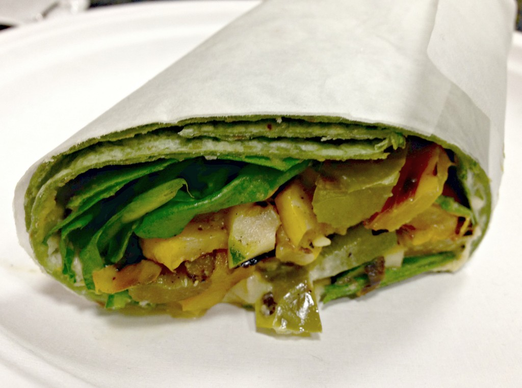 veggie wrap at game