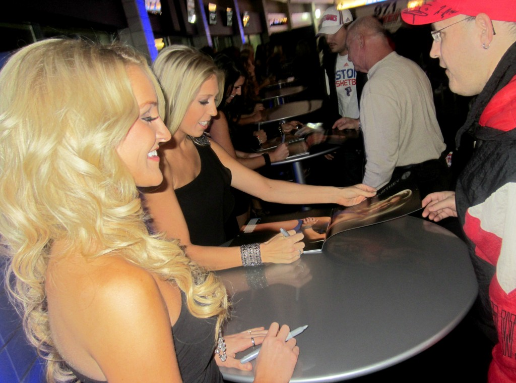 DPD Calendar signing Cristi and Courtney