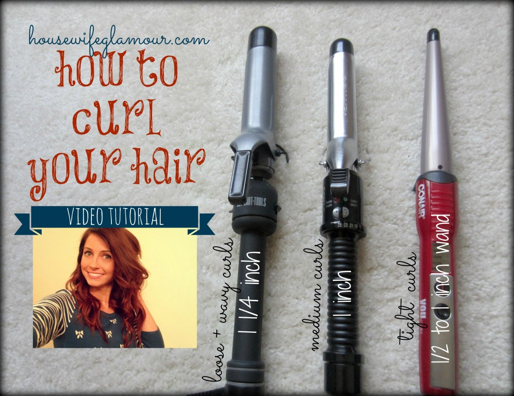 How To Curl Hair Video Tutorial Housewife Glamour