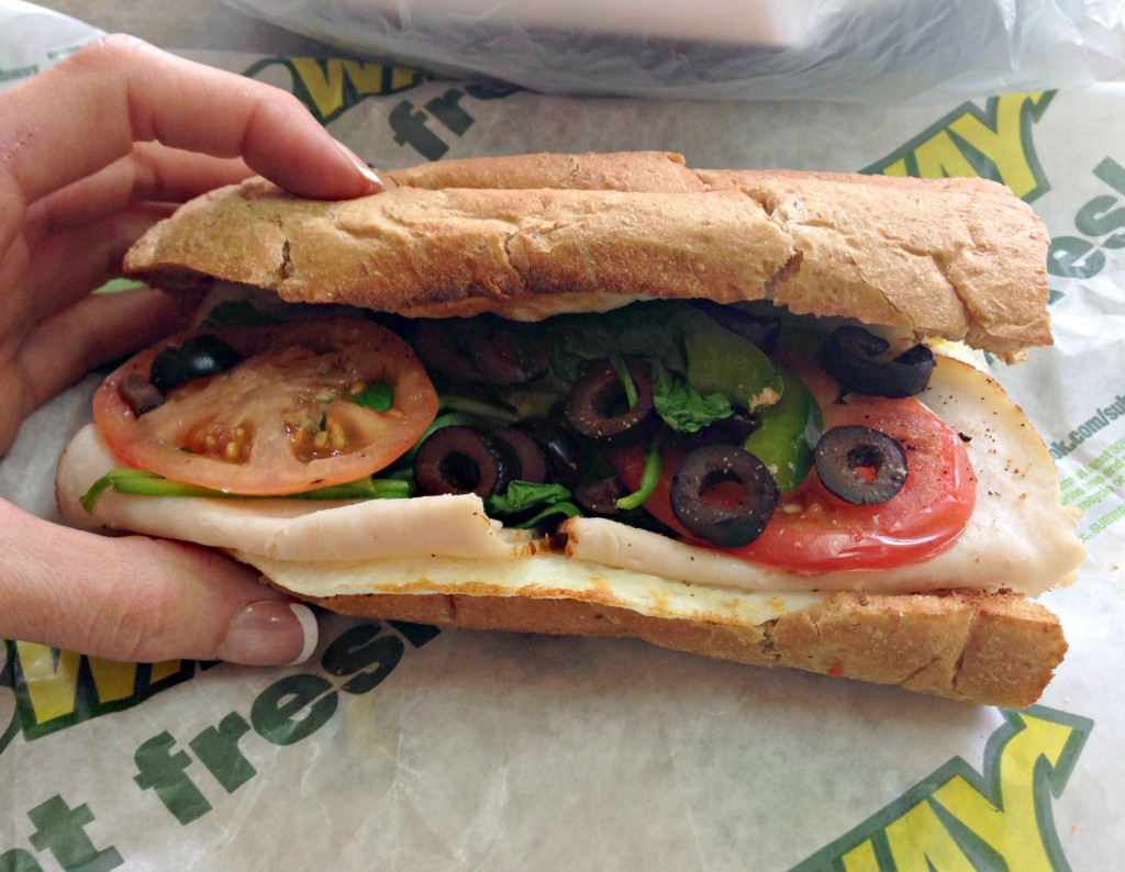 Subway Breakfast egg sandwich