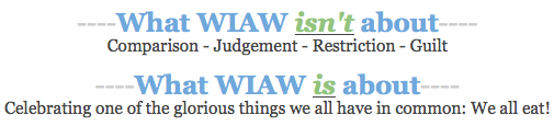 WIAW Disclaimer