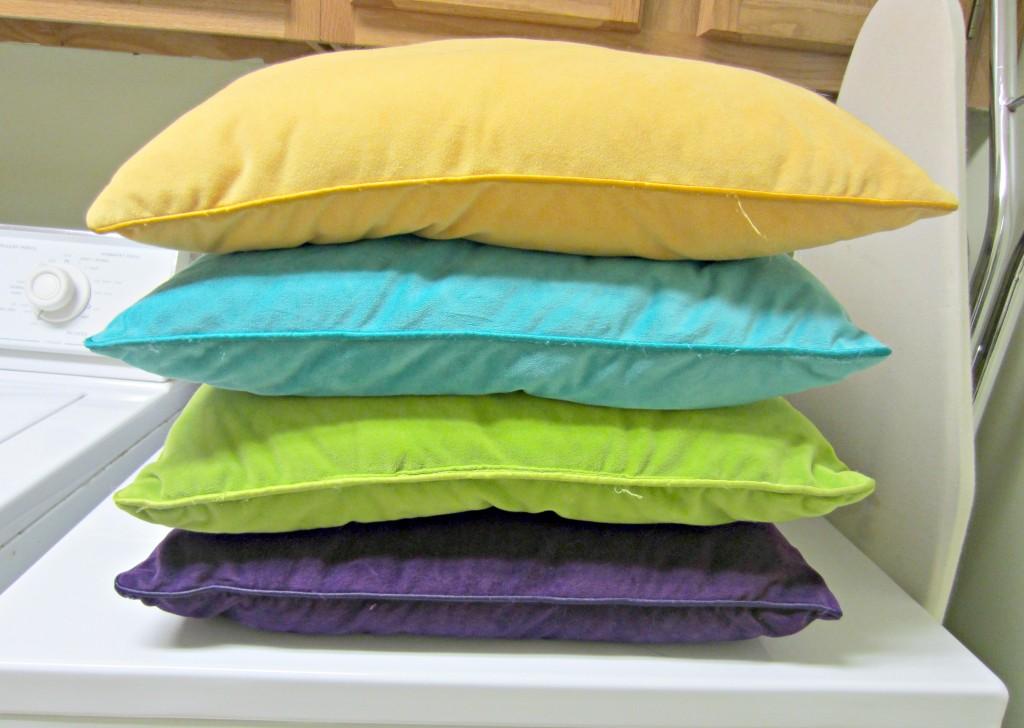 clean throw pillows