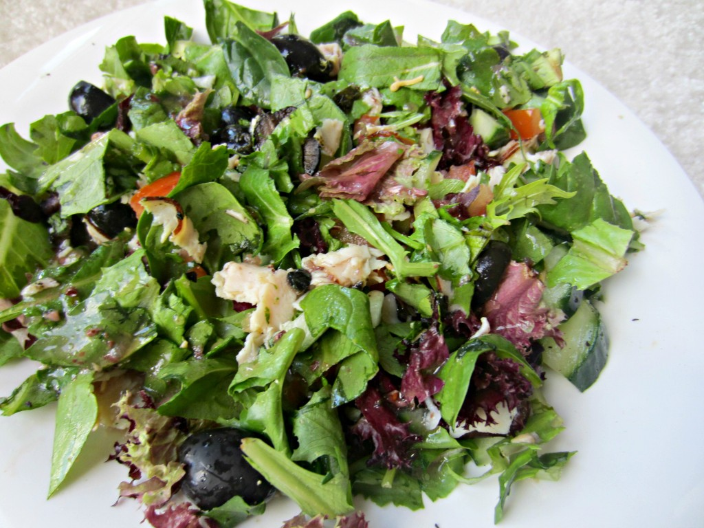 healthy salad with turkey for lunch