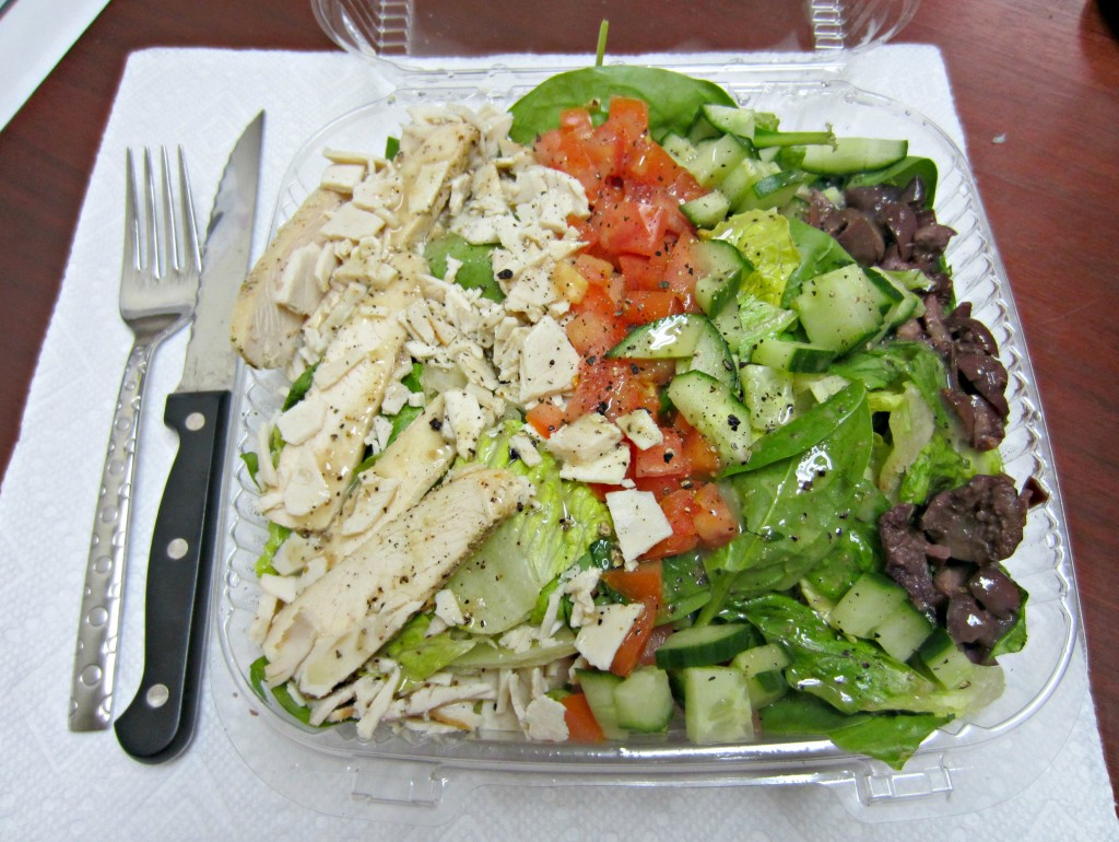 mediterranean salad from lifetime cafe