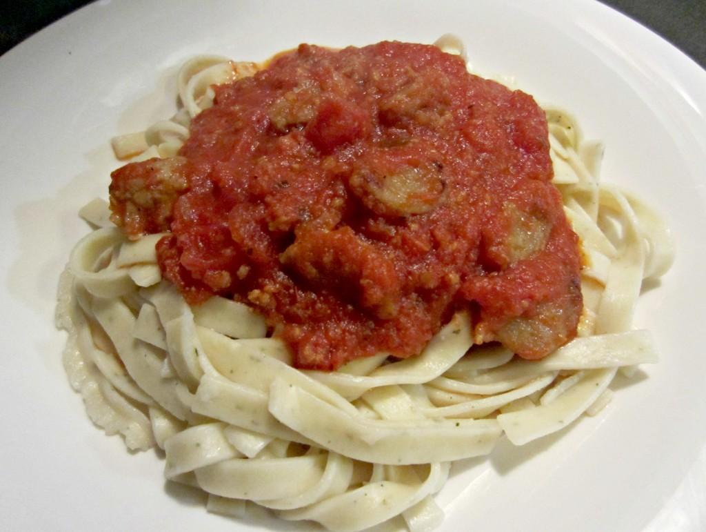 pasta with al fresco chicken sausage
