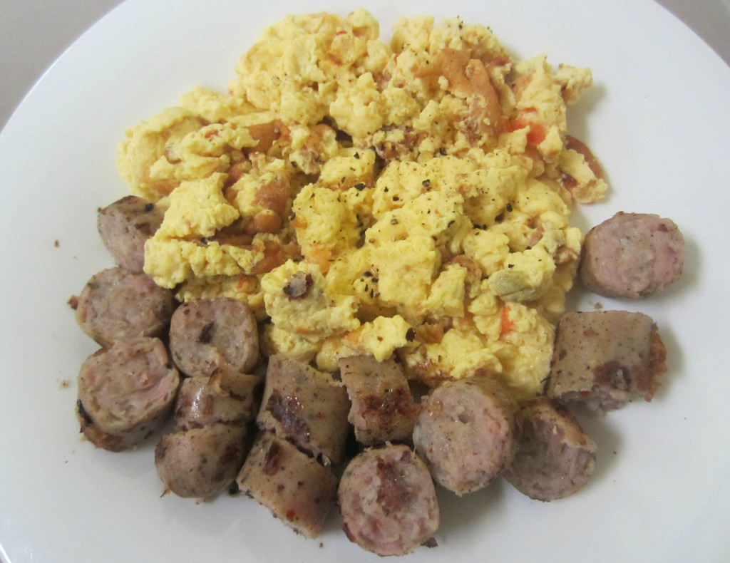 southwest eggbeaters and chicken sausage