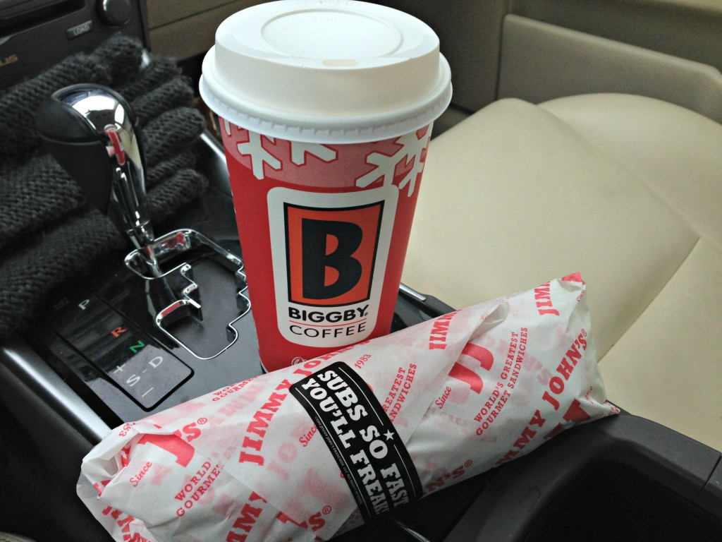 Biggby coffee and jimmy johns unwich