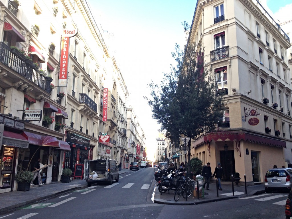 walking around Paris