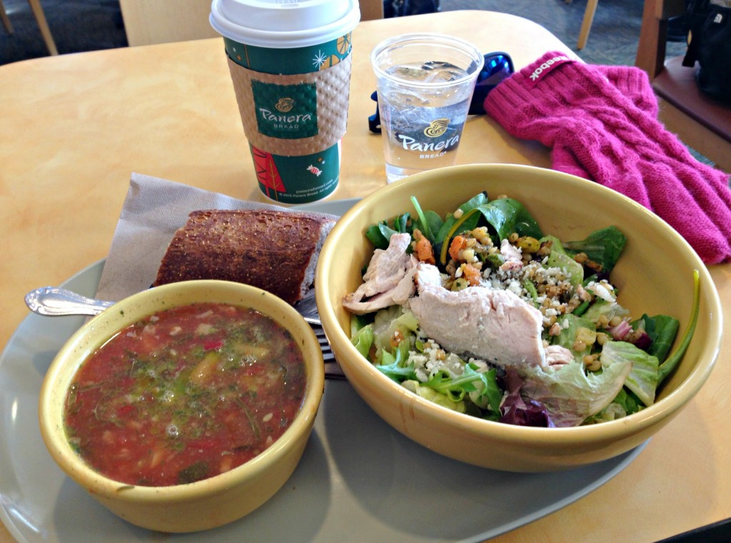 Panera Bread pick two lunch and coffee