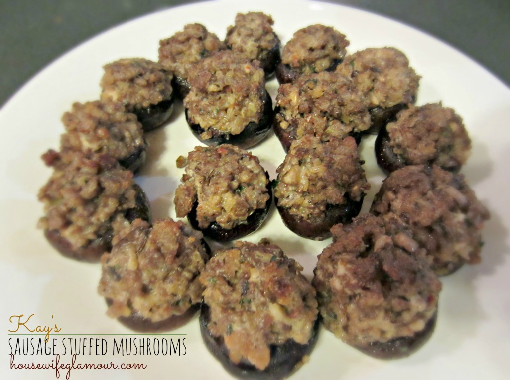 appetizer sausage stuffed mushrooms recipe