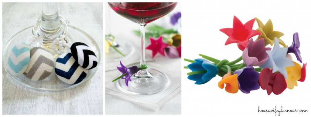 cute wine glass markers