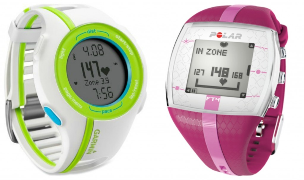 fitness watch with heart rate monitor