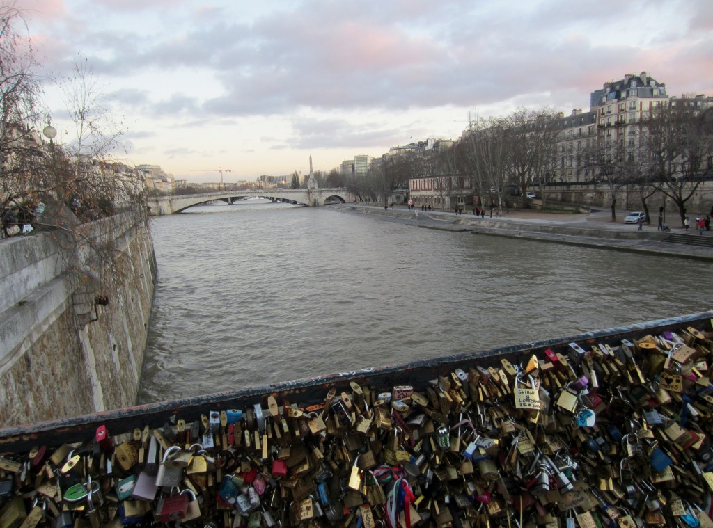love lock bridge river