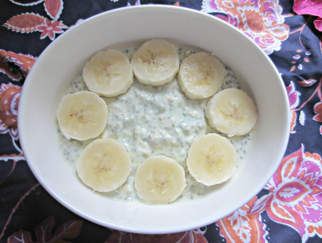 overnight oats key lime with banana