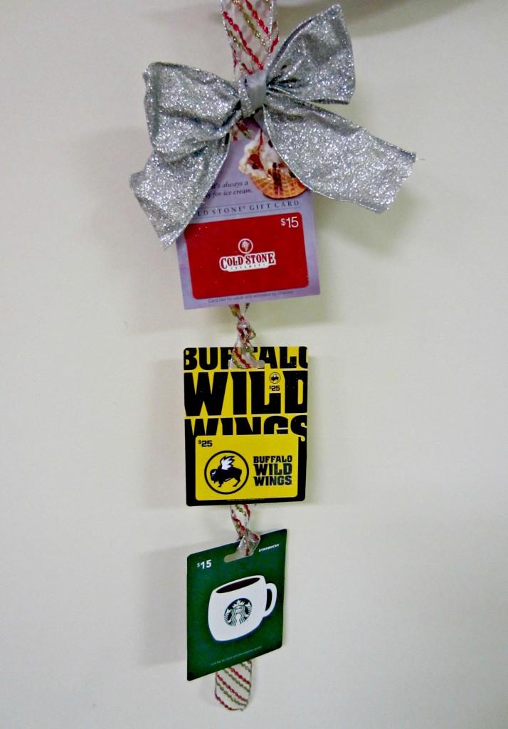 ribbon gift card holder