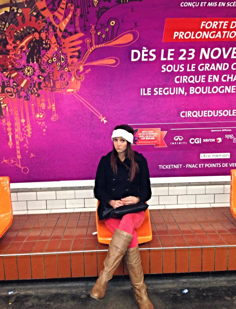 riding the metro in paris