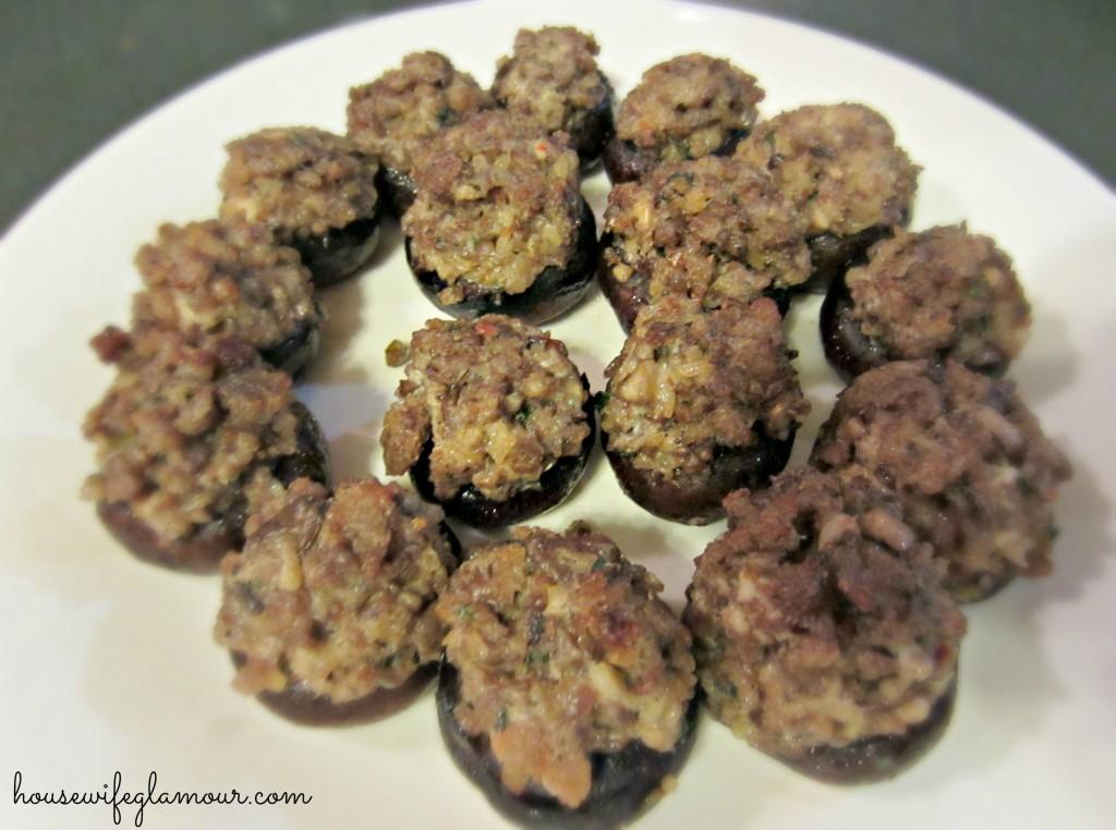 stuffed sausage mushrooms appetizer recipe
