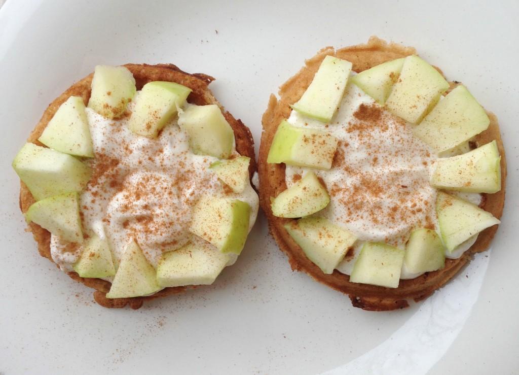 vans apple cinnamon waffles with greek yogurt