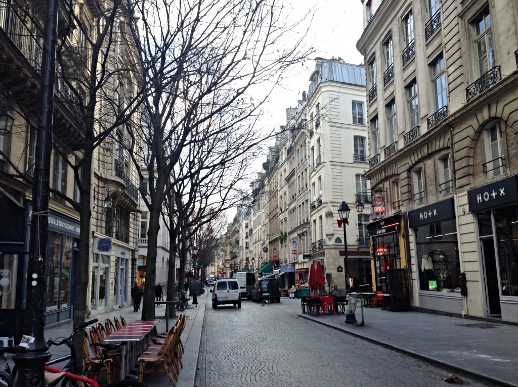 walking through paris