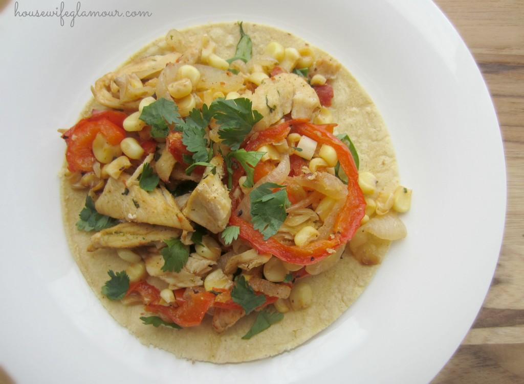 Chicken Fajita Tostadas