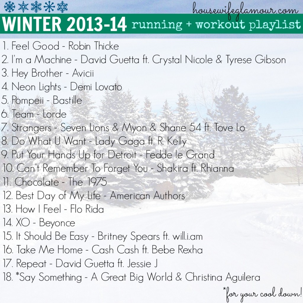 Winter 2013-14 Workout Playlist