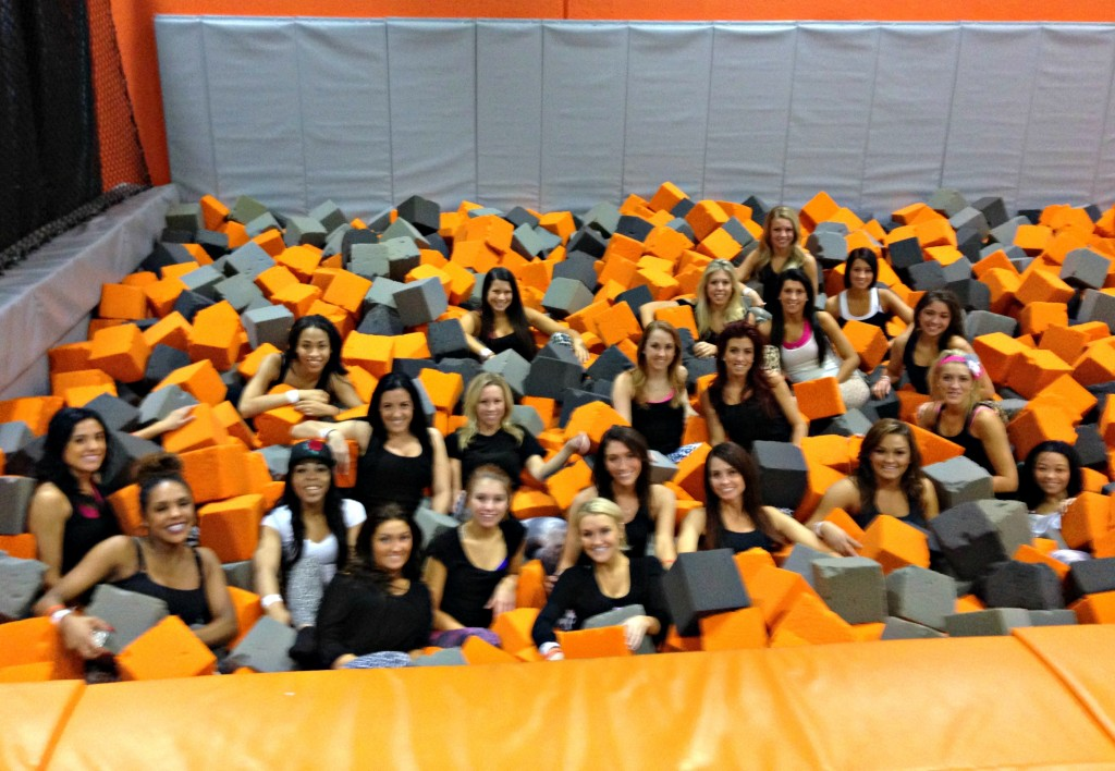 air time trampoline park pistons dancers