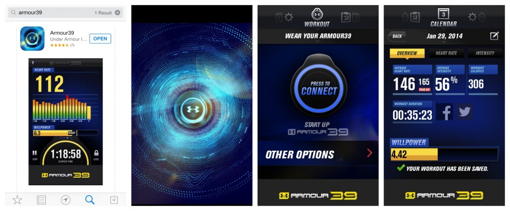 armour39 heart rate monitor app
