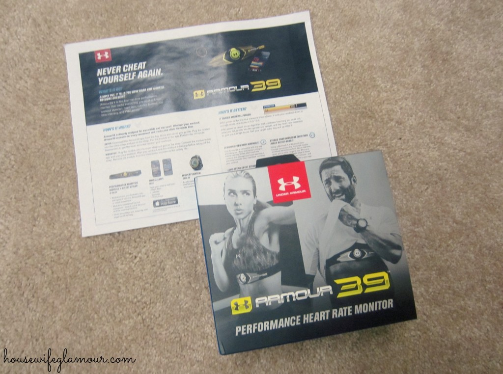 armour39 performance heart rate monitor