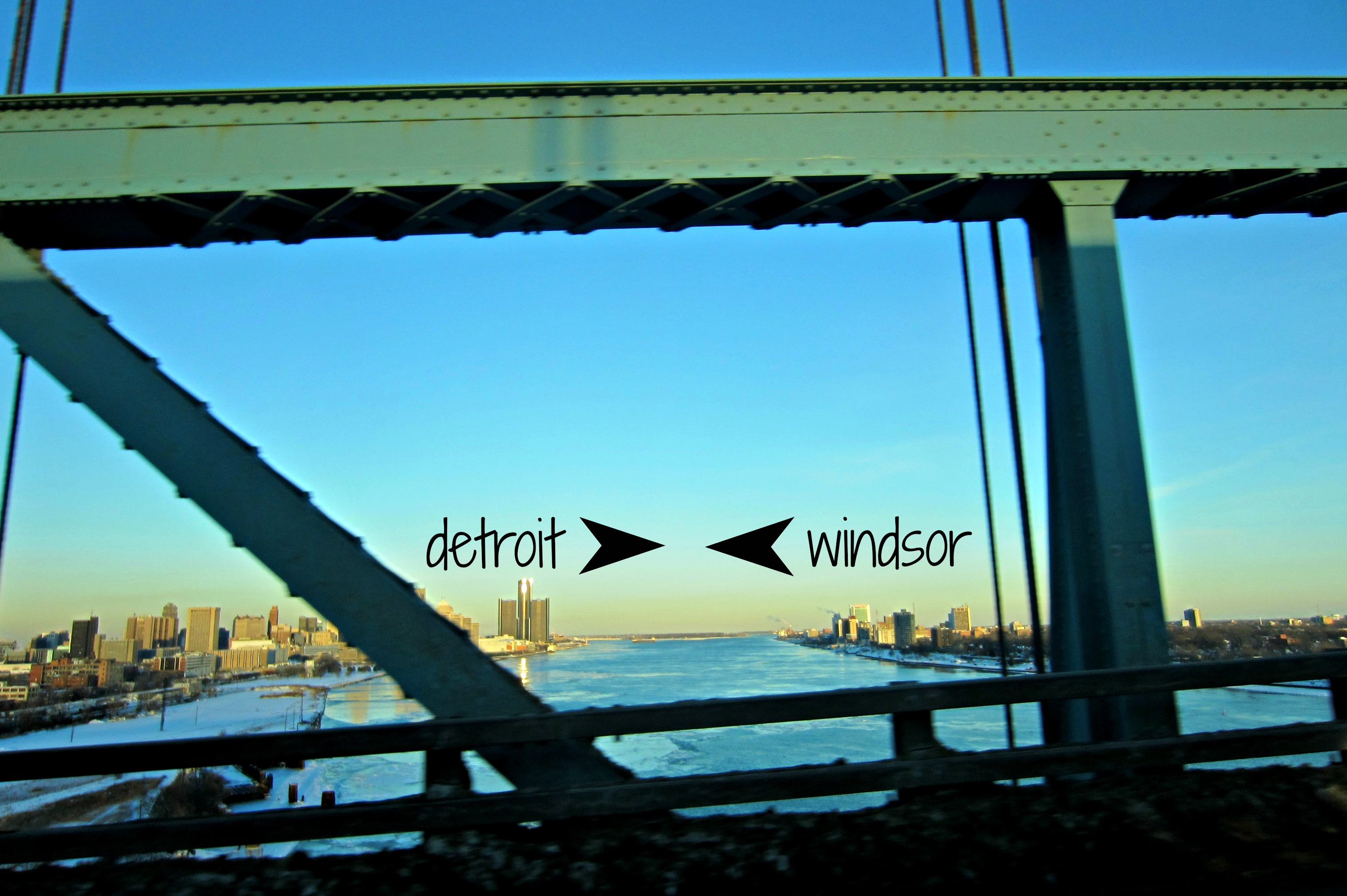 detroit to windsor on ambassador bridge