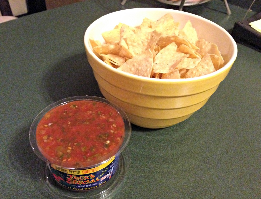 gluten free corn chips and salsa