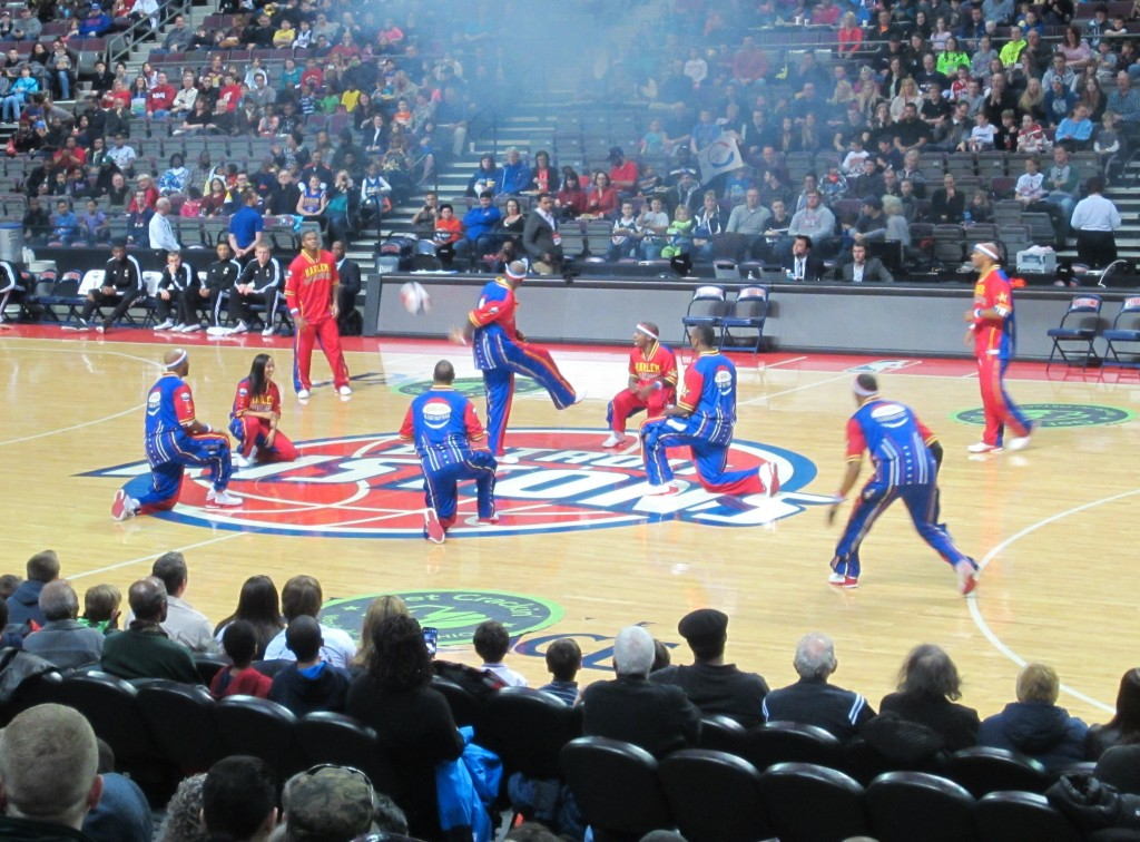 harlam globetrotters at the palace