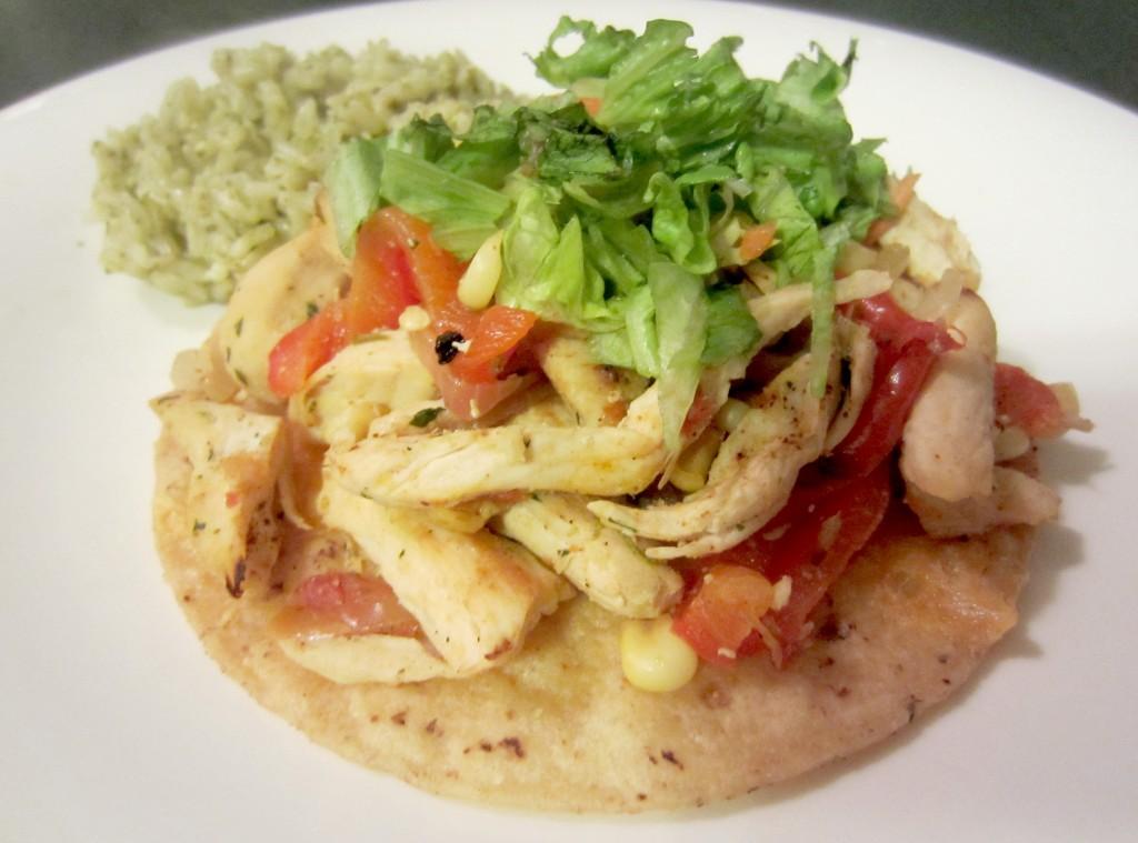 healthy chicken tostatas