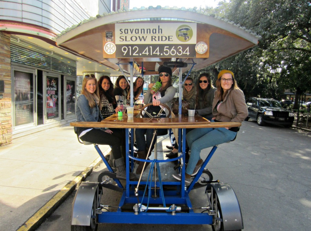 savannah slow ride bike tour group