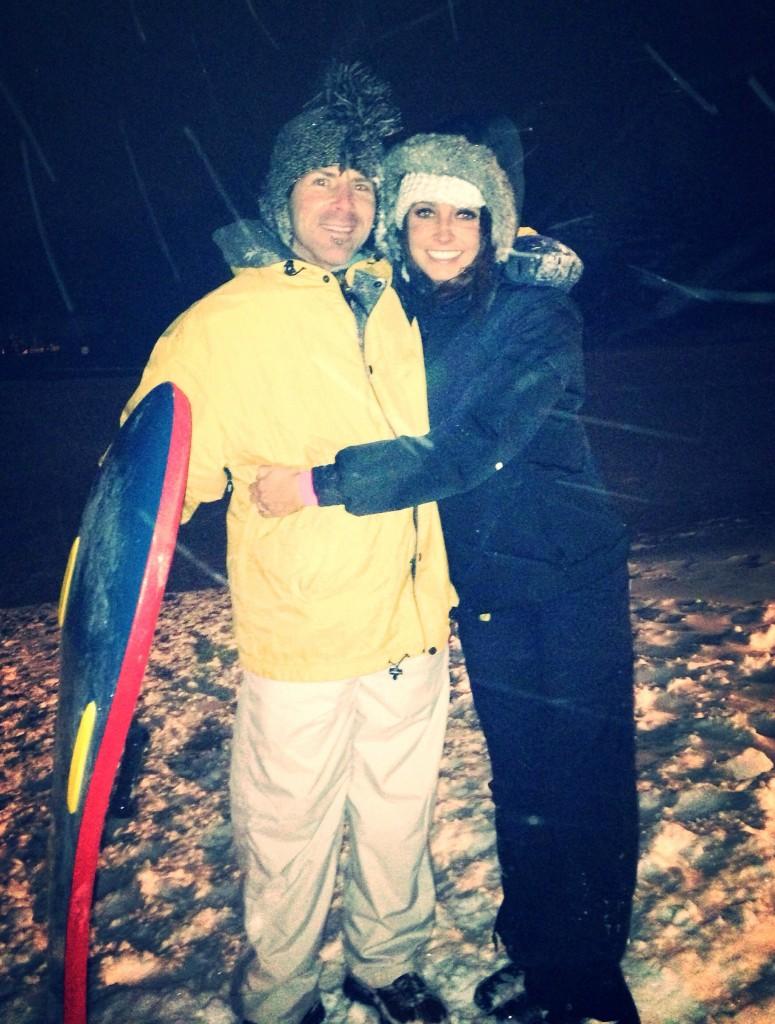 sledding with scott