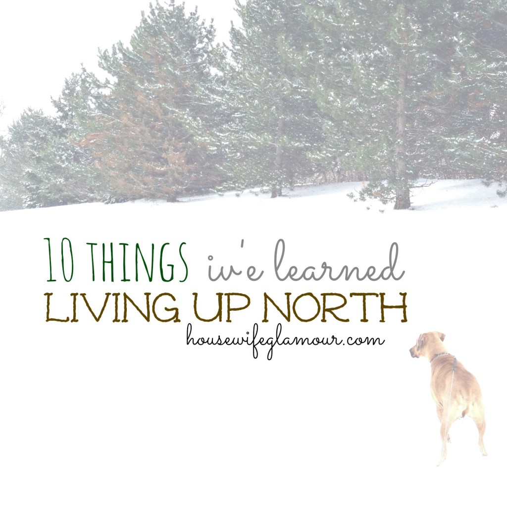 10 things i've learned living up north