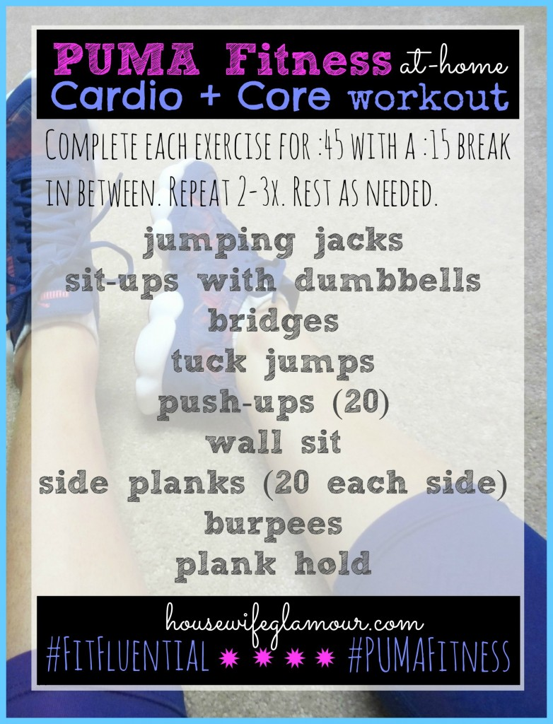 PUMA Fitness Cardio Core Workout