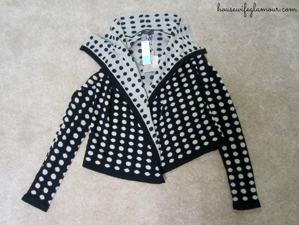 StitchFix polka dot cardigan
