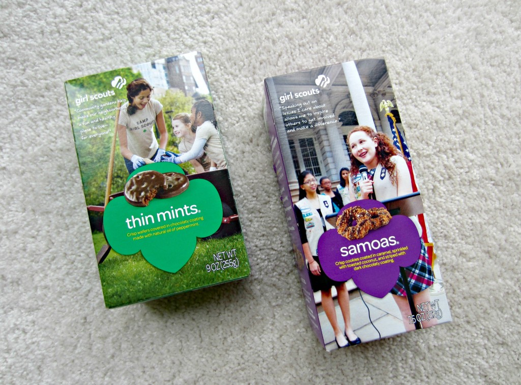 Thin Mint and Samoas Girl Scout Cookies